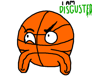 disgusted basketball