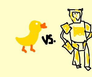 Duck vs. a transformer