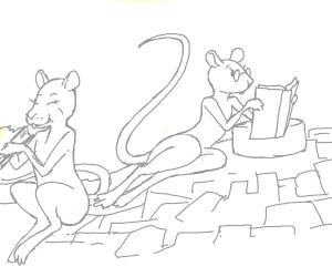 Smart Rat is reading