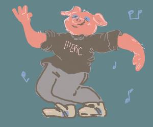 Pigman dancing