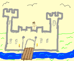 Medieval Castle With Draw-Bridge