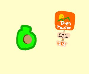 Del Taco (fresh avocado)