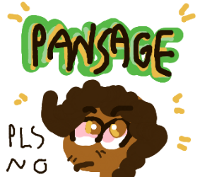 Pansage making a guy uncomfortable.