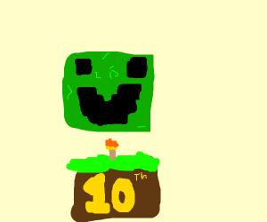 Happy 10th birthday minecraft
