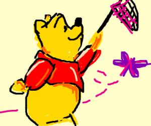 Winny the Pooh butterfly catching