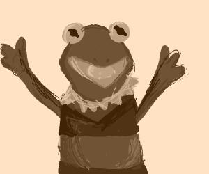 Kermit the Frog in a bikini
