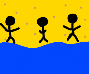 3 people laying on the beach
