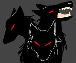 three headed hell hound