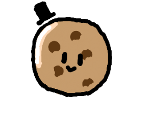 Cookie wearing a Hat