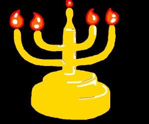 a very nice menorah