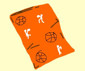 Basketball player duvet cover