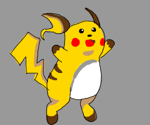 a fusion of Pikachu and Riachu
