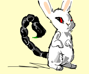 Bunny with a scorpion tail