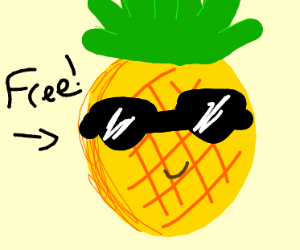 free pineapples!!