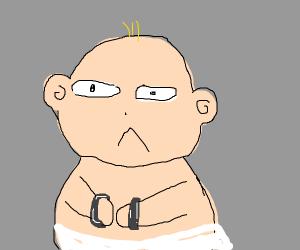 Handcuffed baby