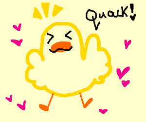 Excited duck