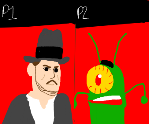 Indiana Jones vs Sheldon J.Plankton
