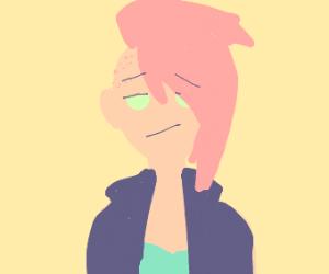 Girl has cool pastel hair