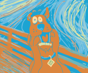 Scooby Doo screaming