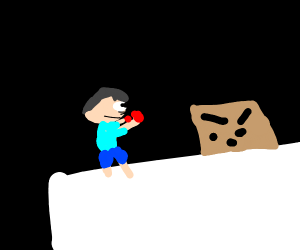Boxing against a box