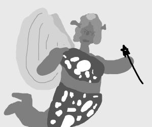 Fiona from shrek but a caveman fairy