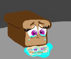 Sad, crying bread. ;-;