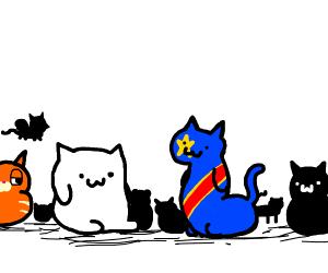 Bongo Cat, Congo Cat, all the cat friends