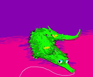 Fuzzy green worm