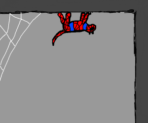 Spidercat, does whatever a spider can.