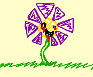 Flower with creepy eyes