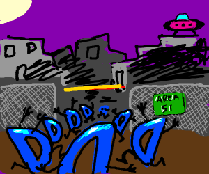 Drawception storms area 51