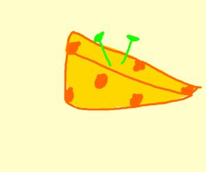 Cheese with Shrek ears