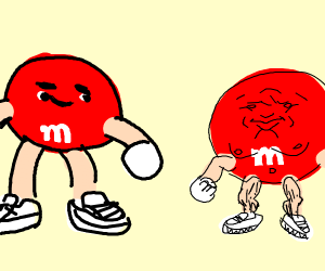 red m&m's personified?
