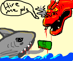 Shark hiring Dragon