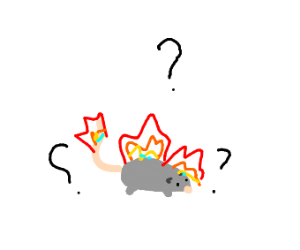 rat confused and on fire