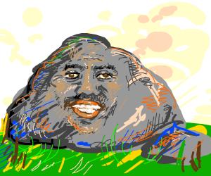 Steve Harvey as a rock.