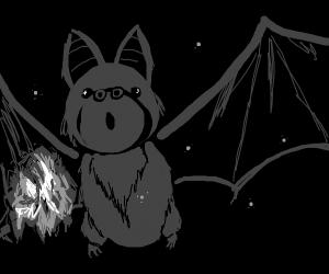 bat hits crumpled paper also molecules in sky