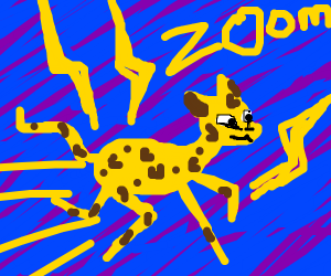 Lightning powered leopard (or cheetah)