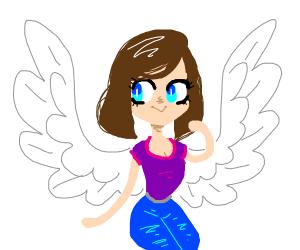 flying anime character