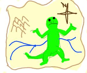 Lizard is lost in a map