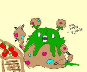 Garbodor buying fruit