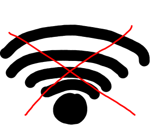 There is no internet
