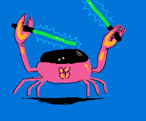 Crab got some lightsabers