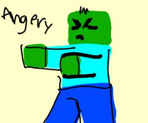 Angry NPC zombies