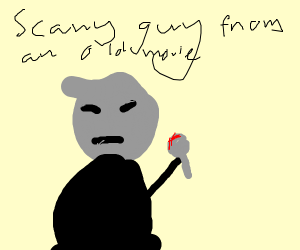 nosferatu holding a bloody spoon