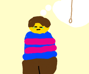 Frisk is hanging themself