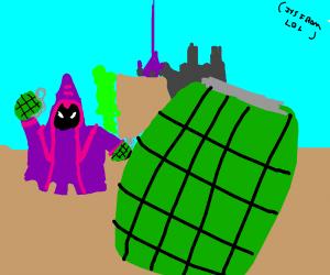 Minion throws a grenade