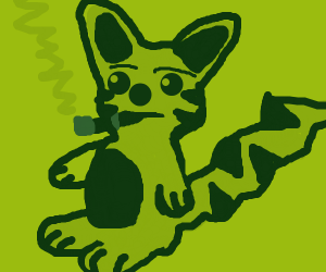 Pikachu smokes and gets aids