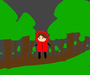 Little red Ridin goes on a lovely little walk
