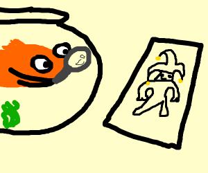 fish investigate joker card